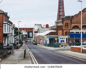 BLACKPOOL, UK - CIRCA JUNE 2016: View of the city