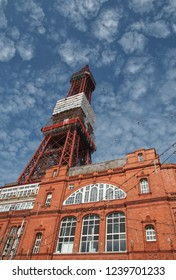 Blackpool, United Kingdom - July 15,2013. The Blackpool Tower on the Pleasure Beach in Blackpool, Lancashire, UK