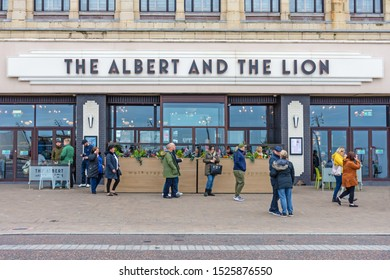 Blackpool,Lancashire/England - 05.10.2019 - The albert and the lion public house on Blackpools golden mile