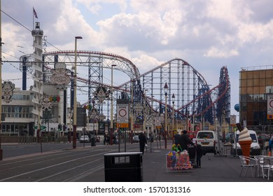 Blackpool,Lancashire/England - 12 May 2010: The famous Pleasure beach on the Golden mile at Blackpool