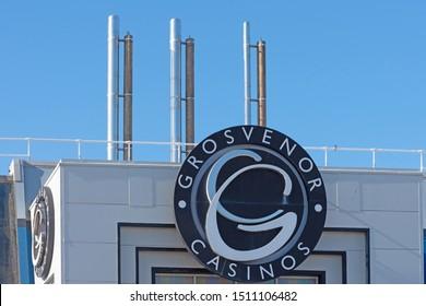 Blackpool,Lancashire/England - 21.09.2019 - Grosvenor Casinos Blackpool front view of main building entrance
