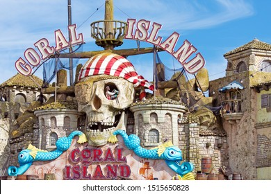 Blackpool,Lancashire/England - 23.09.2019 - Coral Island family indoor fun park with pirate themed