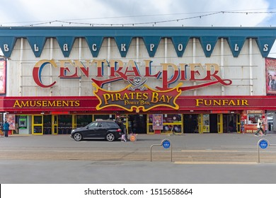 Blackpool,Lancashire/England - 23.09.2019 - The front of Blackpools central pier