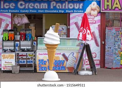 Blackpool,Lancashire/England - 23.09.2019 - The slush and ice cream parlour