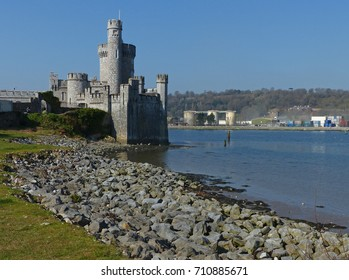 Blackrock Castle on the bank of the River Lee at Lough Mahon in Cork, Ireland is strategically positioned for the defense of the ancient city
