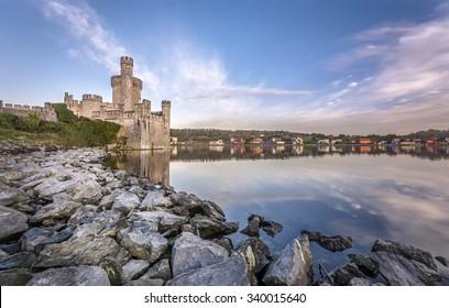 Blackrock Castle on banks of River Lee in Cork, Ireland.