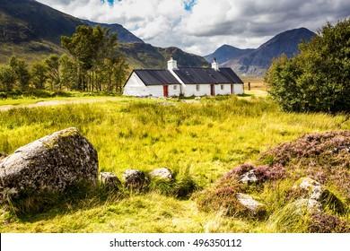 Blackrock Cottage, Rannoch Moor, Glencoe (Glen Coe), Western Highlands, Highlands Region, Scotland, UK, Europe