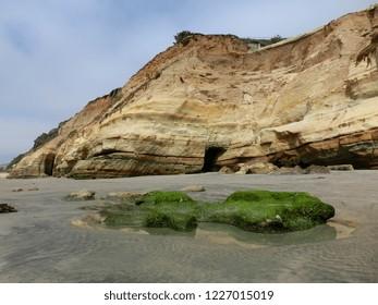 Blacks Beach San Diego beautiful coastline rugged rock formations