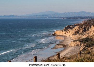 Black's Beach in San Diego, California, a clothing optional beach, popular with Southern California nudists and naturists.