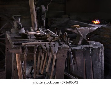 Blacksmith shop, tool detail