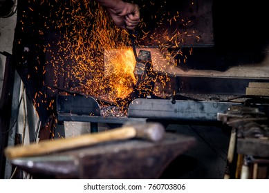 Blacksmith workshop tools