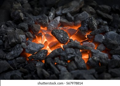 Blacksmiths coals burning for iron work