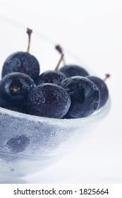 blackthorn berries in a bowl