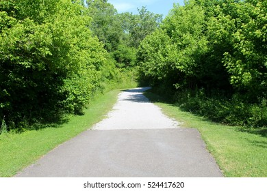 The blacktop turns in to a gravel road.