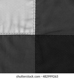 black-white fabric background