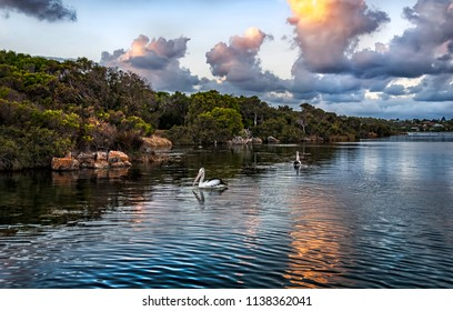 Blackwood River Augusta Western Australia at Sunset