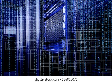 blade storage supercomputer of data center binary code