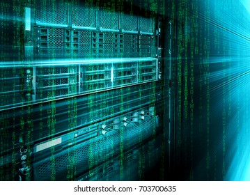 blade storage supercomputer of data center with binary code matrix