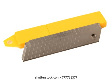 Blades stationery knife on a white background