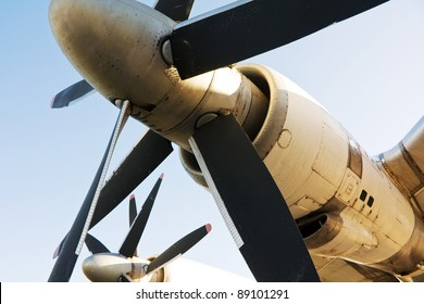 Blades of turboprop airplane