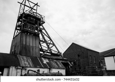 Blaenavon, WALES - 17 AUGUST 2016.  Exterior of the Big Pit National Coal Museum