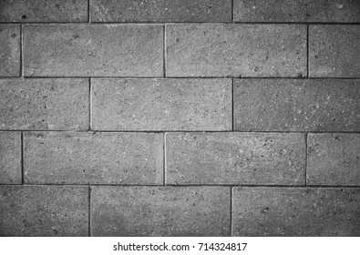 Blak and white brick pattern wall texture for background.
