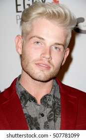 """Blake Eiermann arrives at the """"2016 Fashion Tails Adopt A New Attitude"""" Coffee Book and Art Exhibit benefit on Oct. 6, 2016 at Lombardi House in Los Angeles, CA. Proceeds go to animal rescue programs"""