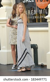 Blake Lively, wearing a Rag & Bone dress, on location for GOSSIP GIRL Filming on Location, Soho, New York, NY July 9, 2009