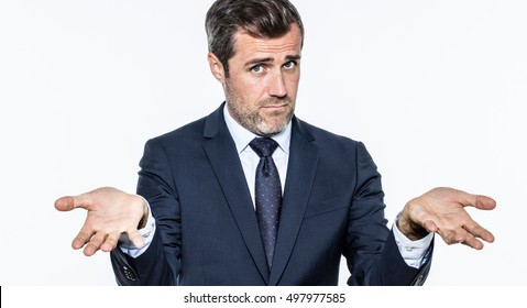 blaming young bearded manager accusing or reproaching leadership for being coward or unreliable,  to being responsible for corporate mistake, isolated, white background