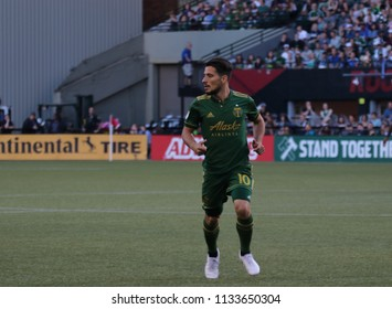 Sebastián Blanco midfielder for the Portland Timbers at Providence Park in Portland Oregon USA July 7,2018.