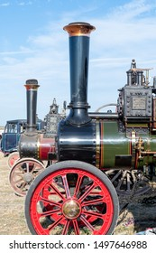 Blandford Forum.Dorset.United Kingdom.August 24th 2019. Burrell traction engines are on display at The Great Dorset Steam Fair.