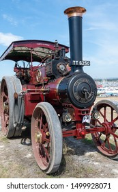 Blandford Forum.Dorset.United Kingdom.August 24th 2019.A Burrell traction engine is on display at The Great Dorset Steam Fair.