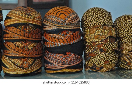 Blangkon is a headgear made of batik and is used by men as part of traditional Javanese clothing