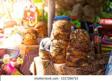 Blangkon stack ,Blangkon is a headgear made from batik and used by men as part of traditional Javanese clothing