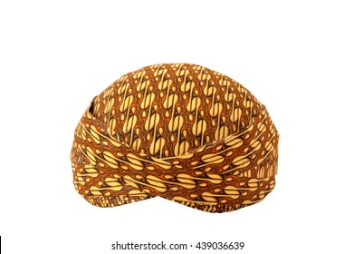 blangkon a traditional hat Javanese men on white background
