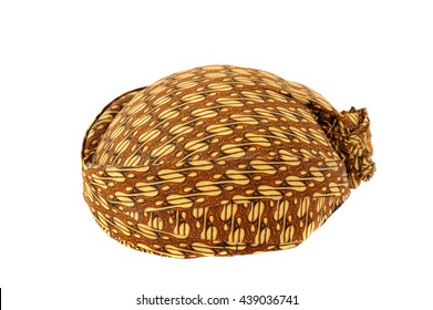 blangkon a traditional hat Javanese men on white background