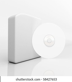 Blank 3d box with compact disc