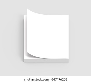 blank 3d rendering book for design uses, isolated on gray background