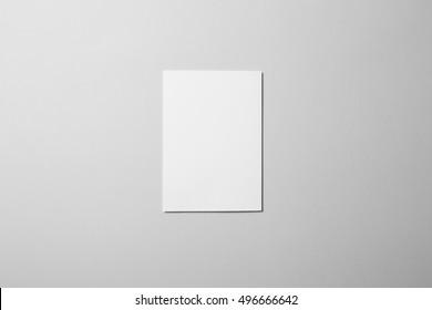 Blank A5 Flyer / Invitation Mock-up.