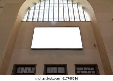 Blank Ad Space City Urban Environment Stuttgart Geramny Public Building Wall