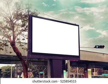 blank adverting billboard