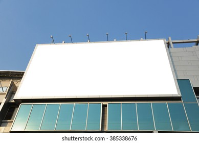 blank advertising billboard