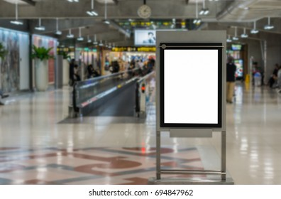 Blank advertising billboard at the airport.