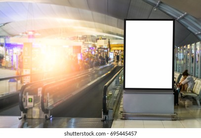 Blank advertising of billboard at the airport.