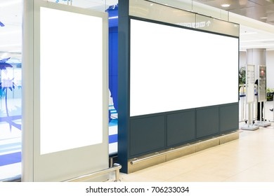 blank advertising billboard at airport