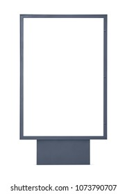 Blank advertising billboard isolated on white background with copy space and clipping path for the screen