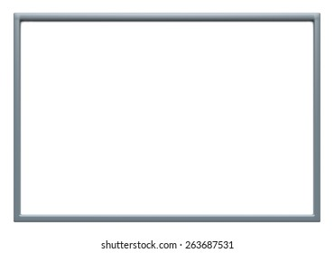 Blank advertising billboard isolated on white background