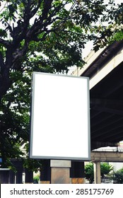 blank advertising billboard signpost