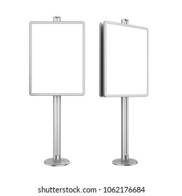 Blank Advertising Billboard Stand Isolated. 3D rendering