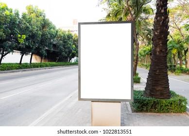 Blank advertising, Empty Billboard on street.